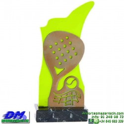 Trofeo Padel 5443 copa premio pala pelota diferentes alturas pallart tamaños chapa grabada