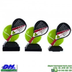 Trofeo Padel 5448 copa premio pala jugador diferentes alturas pallart tamaños chapa grabada
