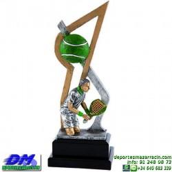 Trofeo Padel 5452 copa premio pala jugador diferentes alturas pallart tamaños chapa grabada