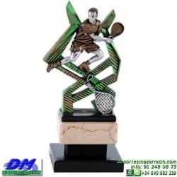 Trofeo Padel 5453 copa premio pala jugador diferentes alturas pallart tamaños chapa grabada