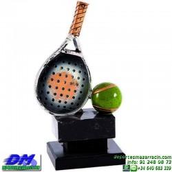 Trofeo Padel 5455 copa premio pala jugador diferentes alturas pallart tamaños chapa grabada