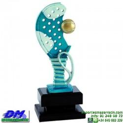 Trofeo Padel 5456 copa premio pala jugador diferentes alturas pallart tamaños chapa grabada