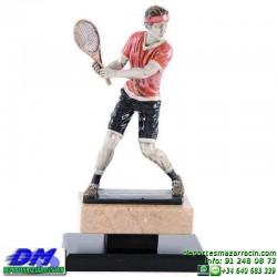 Trofeo Tenis 5468 copa premio tenista raqueta diferentes alturas pallart tamaños chapa grabada