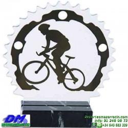 Trofeo Mountain Bike 5491 ciclismo premio diferentes alturas pallart ciclista tamaños chapa grabada