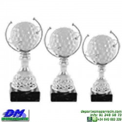 Trofeo Golf 5521 pelota golfista premio diferentes alturas pallart tamaños chapa grabada