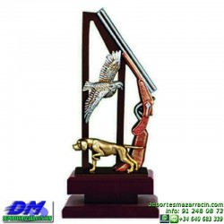 Trofeo de Caza 5553 cazador perdiz perro escopeta premio diferentes alturas pallart tamaños chapa grabada