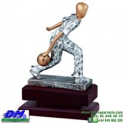 Trofeo Bolos 5567 bolas jugador premio diferentes alturas pallart tamaños chapa grabada