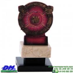 Trofeo Dardos 5576 diana jugador premio diferentes alturas pallart tamaños chapa grabada
