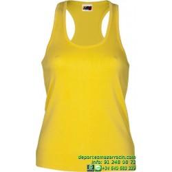 CAMISETA Tirante Mujer Economica JOYLU MARBELLA 012 ALGODON color basica deporte entrenamiento grupo peña equipo