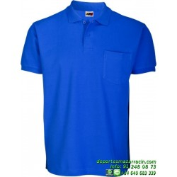 Polo con Bolsillo Economico JOYLU 020 ALGODON colores deporte botones MANGA CORTA entrenamiento grupo peña equipo futbol