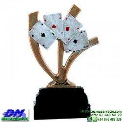 Trofeo Cartas 5596 poker as ases premio diferentes alturas pallart mano baraja tamaños chapa grabada