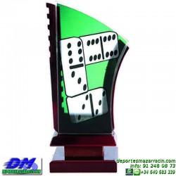 Trofeo Domino 5605 fichas premio diferentes alturas pallart tamaños chapa grabada