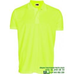 Polo Poliester Economico JOYLU 116 transpirable colores deporte boton MANGA CORTA entrenamiento grupo peña equipo futbol