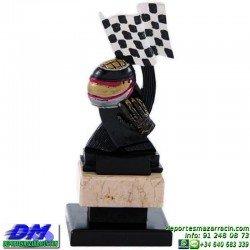Trofeo Motociclismo 5636 motor motos casco carreras premio pallart diferentes alturas tamaños chapa grabada