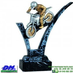 Trofeo Motocross 5640 motor metal motos casco carreras premio pallart diferentes alturas tamaños chapa grabada