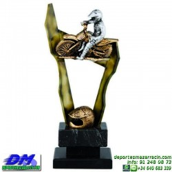 Trofeo Motocross 5641 motor motos casco carreras premio pallart diferentes alturas tamaños chapa grabada
