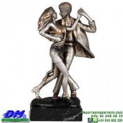 Trofeo Baile 5642 bailarines bachata danza premio pallart diferentes alturas tamaños chapa grabada
