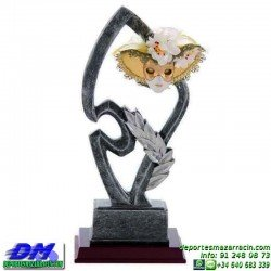 Trofeo Carnaval 5648 mascara disfraz fiesta premio pallart diferentes alturas tamaños chapa grabada