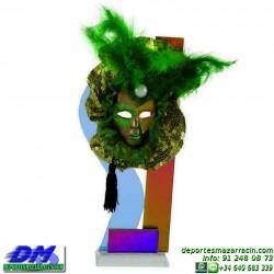 Trofeo Carnaval 5650 mascara disfraz fiesta premio pallart diferentes alturas tamaños chapa grabada