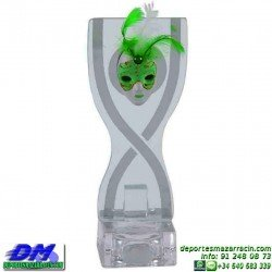 Trofeo Carnaval 5655 mascara disfraz fiesta premio pallart diferentes alturas tamaños chapa grabada