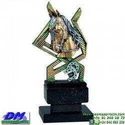 Trofeo Caballos 5657 equitacion doma cabeza premio pallart diferentes alturas tamaños chapa grabada