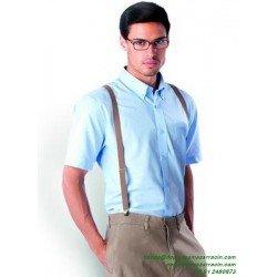 Camisa Económica KARIBAN OXFORD Manga corta K535 hombre man laboral botones woman