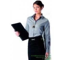 Camisa Mujer Económica KARIBAN OXFORD Manga larga K534 laboral woman botones
