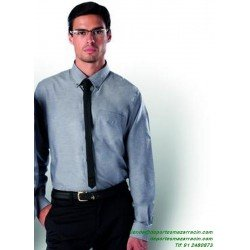 Camisa Economica KARIBAN OXFORD Manga Larga K533 hombre man trabajo color laboral botones
