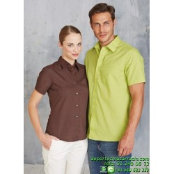 Camisa Económica KARIBAN ACE Manga corta K551 hombre laboral man trabajo color talla botones