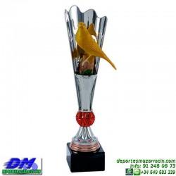 Trofeo Pajaro 5686 ave ornitologia diferentes alturas premio pallart tamaños chapa grabada