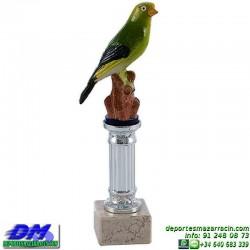 Trofeo Pajaro 5689 ave ornitologia diferentes alturas premio pallart tamaños chapa grabada