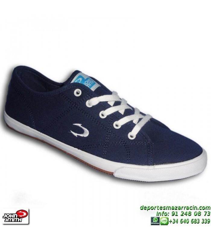 Smith John Sportwear Azul Personalizar Lanta Tela Moda Marino Zapatilla JcFK1l