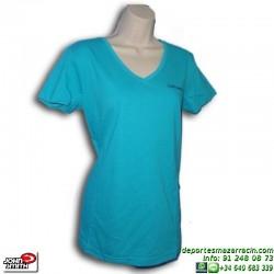 Camiseta Mujer JONH SMITH HERMOSA azul manga corta deporte ALGODON señora cuello pico