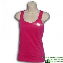 Camiseta Deporte MUJER Tirantes Transpirable John Smith PLANTA Rosa GIMNASIO