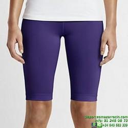 NIKE-PRO Core Compression 28 Chica Malla CORTA MORADO Lycra DRI-FIT 642648-547 gimnasio fitness deporte mujer