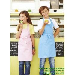 DELANTAL para NIÑOS Economico junior niña chef camarero bar barato K889 restaurante