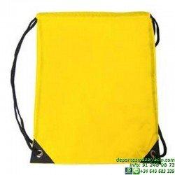 BOLSA NYLON GYMSACK EconomicaMOCHILA publicidad BAG sportwear deporte CM1color grupo asociacion EQUIPO