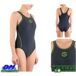 Bañador Natacion Mujer Squba 4012 SQUALO GRIS piscina cubierta lycra chica softee deportivo talla color anticloro