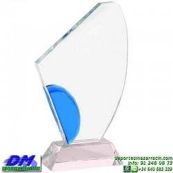 Trofeo Cristal Especial Grabación 5106 laser texto logotipo escudo diferentes alturas premio deporte pallart metacrilato