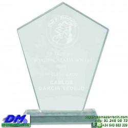 Trofeo Cristal Especial Grabación 5114 laser texto logotipo escudo diferentes alturas premio deporte pallart metacrilato