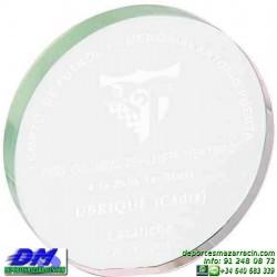 Trofeo Cristal Especial Grabación 5131 laser texto logotipo escudo diferentes alturas premio deporte pallart metacrilato