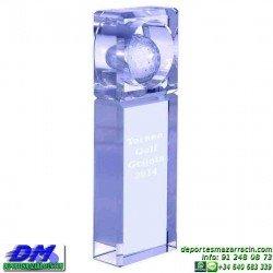 Trofeo Cristal Especial Grabación 5139 laser texto logotipo escudo diferentes alturas premio deporte pallart metacrilato