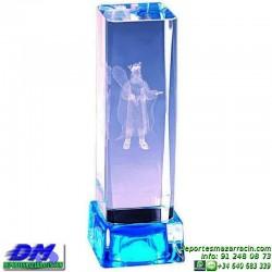 Trofeo Cristal Especial Grabación 3D 5145 laser texto logotipo escudo diferentes alturas premio deporte pallart metacrilato
