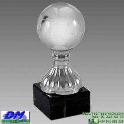 Trofeo Cristal Especial Grabación 5152 laser texto logotipo escudo diferentes alturas premio deporte pallart metacrilato