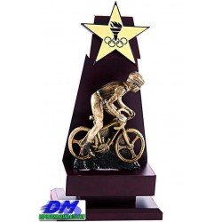 Trofeo Madera 5210 laser texto logotipo escudo diferentes alturas premio deporte pallart metacrilato