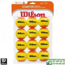 WILSON STARTER ORANGE TBALL 12 PACK Pelota Tenis BAJA PRESION WRT137200 niños aprendizaje iniciacion naranja
