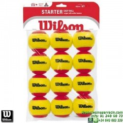 WILSON STARTER RED TBALL 12 PACK Pelota Tenis POCA PRESION WRT137100 niños aprendizaje iniciacion rojo roja