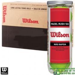 CAJON WILSON PADEL RUSH 100 BALL 24 Botes pelotas x3 bolas WRT136500