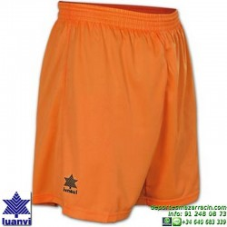 LUANVI PANTALON CORTO STANDARD Futbol color NARANJA equipacion SPORT talla hombre niño 05689-0100