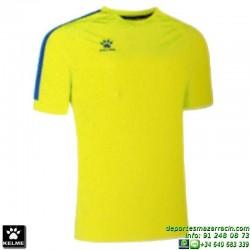 KELME CAMISETA GLOBAL Futbol color AMARILLO FLUOR Manga Corta talla equipacion hombre niño 78162-944